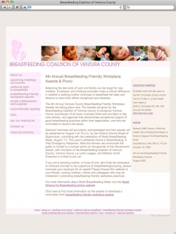 Breastfeeding Coalition of Ventura County Website