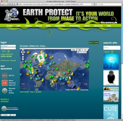 Earth Protect Website - Map