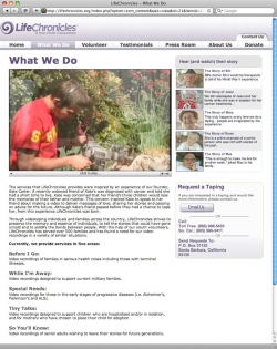 Life Chronicles Website