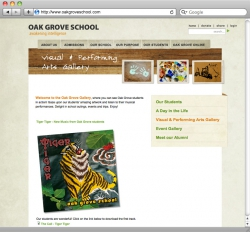 Oak Grove School Website - Visual and Performing Arts Gallery