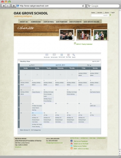 Oak Grove School Website - Calendar