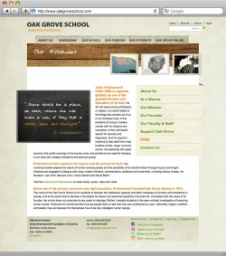 Oak Grove School Website - Founder