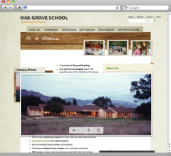 Oak Grove School Website - Slideshow Popover