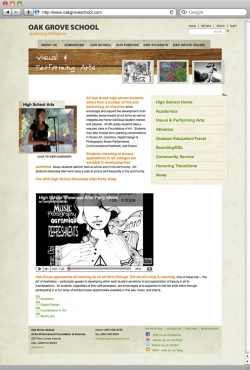 Oak Grove School Website - Visual and Performing Arts