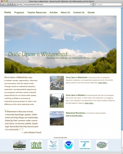 Once Upon a Watershed Website - Home