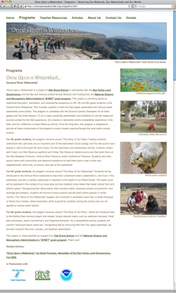 Once Upon a Watershed Website - Programs