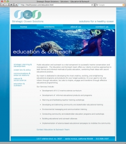 Strategic Ocean Solutions - Education