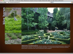 Blue Heron Landscaping Web Page
