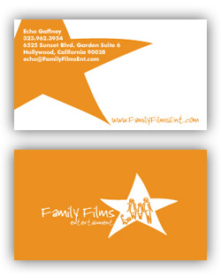 Family Films Entertainment Business Card