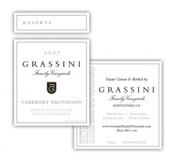 Grassini Family Vineyards Wine Label