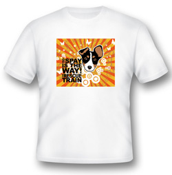 Rescue Train Spay Tshirt