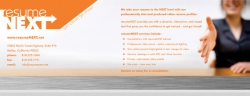 Resume Next Brochure Front