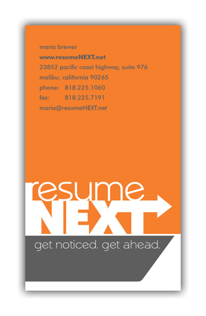 Resume Next Business Card  Resume Business Cards