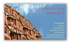 Wandering Haveli Business Card