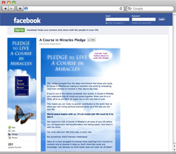 ACIM Facebook Pledge Page