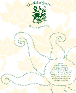 Naked Garden Invitation