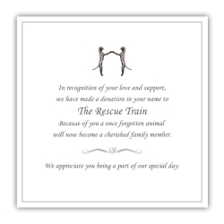 Recue Train Gift of Love Favors