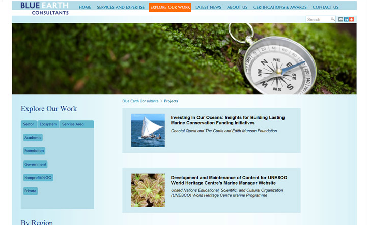 Blue Earth Consultants Website - Explore Our Work