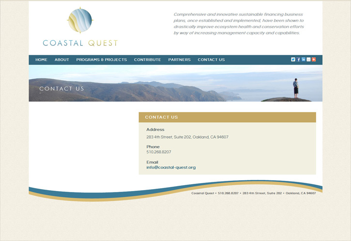 Coastal Quest Website - Contact