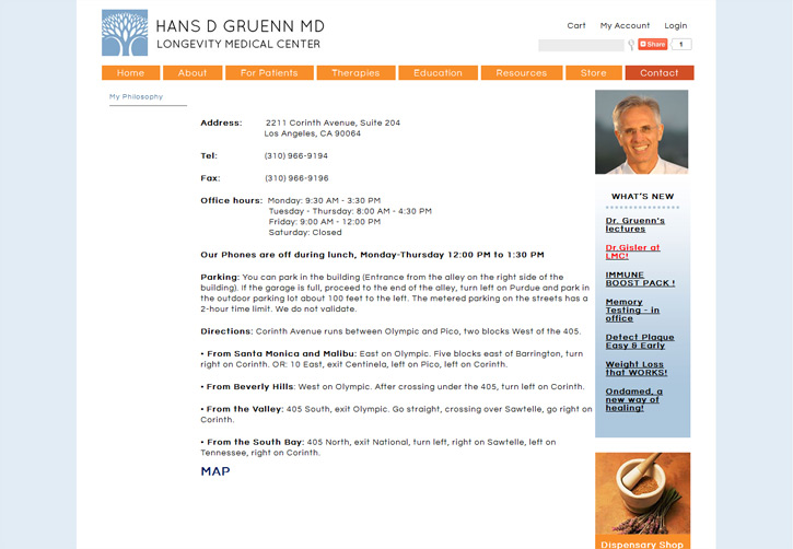Dr Gruenn Website - Contact