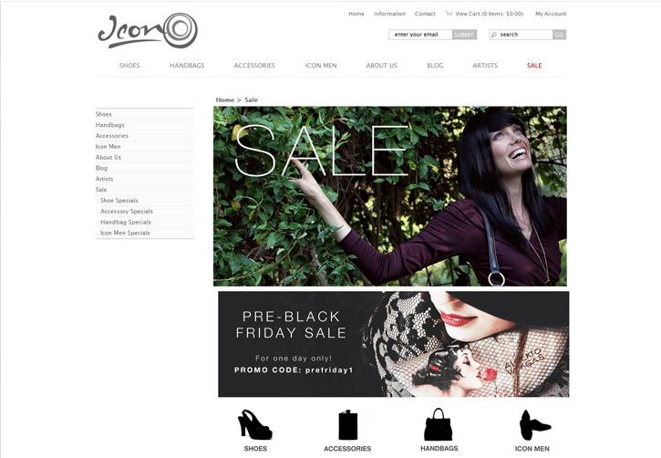 Icon Shoes Website - Sale
