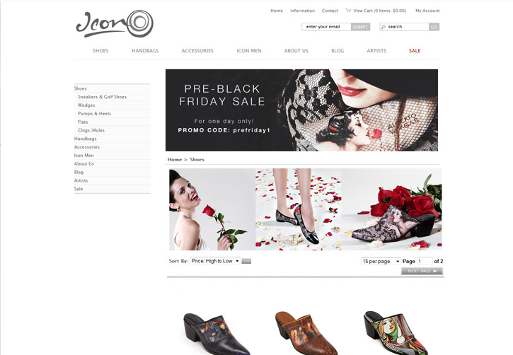 Icon Shoes Website - Shoes