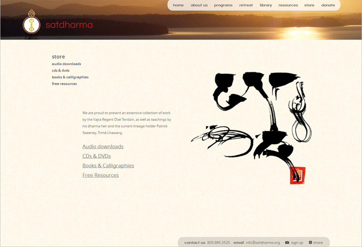 Satdharma Website - Store